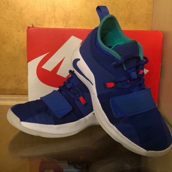brand new ac88c 3d664 Nike PG 2.5 Blue Basketball 5 Youth Shoes